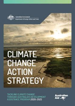 Climate Change Action Strategy | DFAT