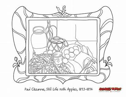 Still Coloring Paul Cezanne Pages Painting Worksheet