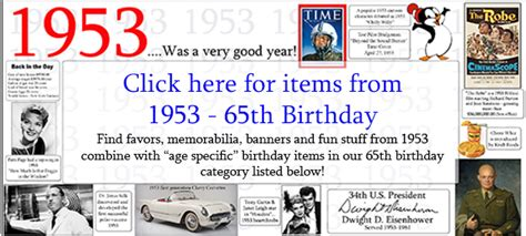 65th Birthday Party Supplies Ideas