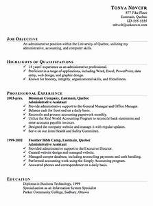 Resume sample for an administrative assistant susan for Free administrative assistant resume templates