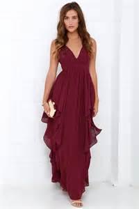 burgundy bridesmaid dresses 100 beautiful burgundy maxi dress prom dress bridesmaid dress 98 00