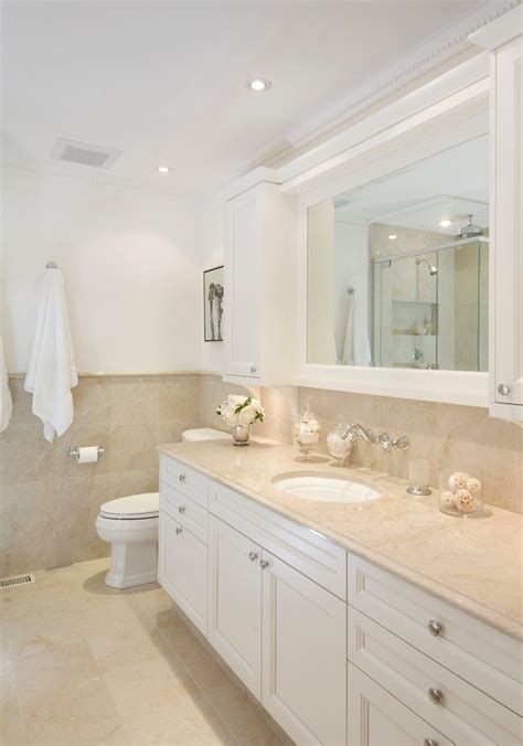 cream colored bathroom beach style  window traditional