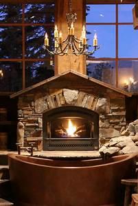 34, Beautiful, Stone, Fireplaces, That, Rock