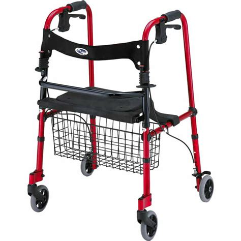 walkers rolling walker elderly walgreens lightweight wheeled folding hand nova brakes knee basket self health