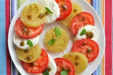 idee cuisine d ete salade tomate mozzarella à la pomme de terre recettes de cuisine avec pommes de terre