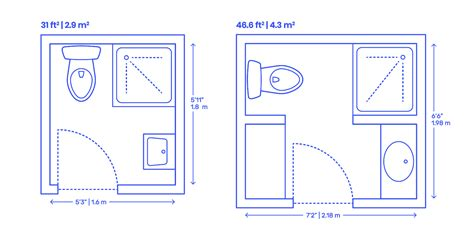 Size Of A Small Bathroom by Corner Shower Bathrooms Dimensions Drawings Dimensions