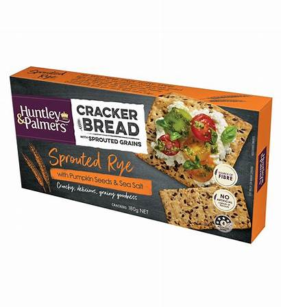 Rye Crackers Pumpkin Sprouted Salt Huntley Palmers