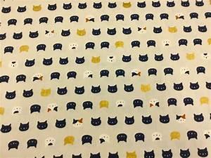 Kitty Cat Kitten Neko Japanese Asian Retro Cotton Quilt ...