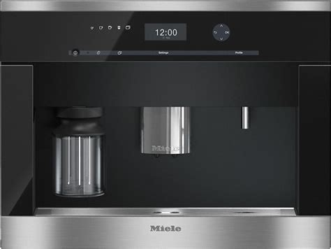 """Perfectly combinable design with coffeeselect + autodescale for highest demands. Miele 21.44"""" Clean Touch Steel Built in Coffee Machine ..."""