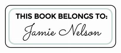 Label Labels Belongs Bookplate Template Templates Printable