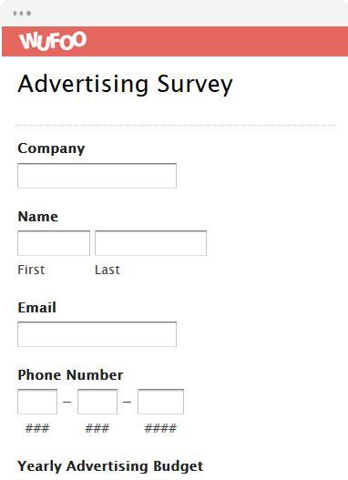 survey form templates wufoo