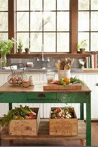 Cocina, Peque, U00f1a, Mesa, Vintage, Verde, Ventana, Grande, De