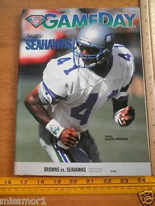 nfl game day program seattle seahawks  cleveland browns