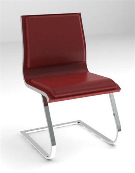 chaise luge chaise visiteurs nulite rembourrée en cuir pied luge