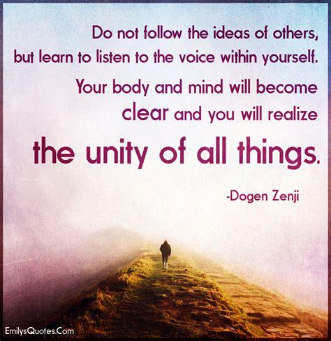 follow  ideas    learn  listen