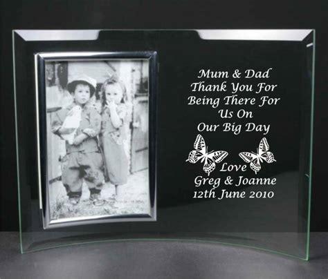 personalised mum  dad wedding gift glass photo frame