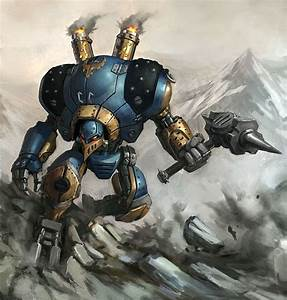 Warmachine. Picture (2d, sci-fi, warrior, steampunk, robot ...