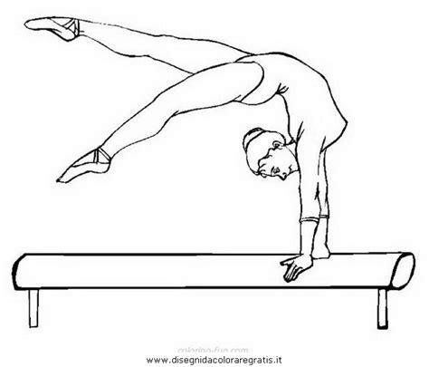 disegni di ginnastica artistica da colorare cartoni animati ginnastica ritmica 스톡 벡터 kayocci disegno