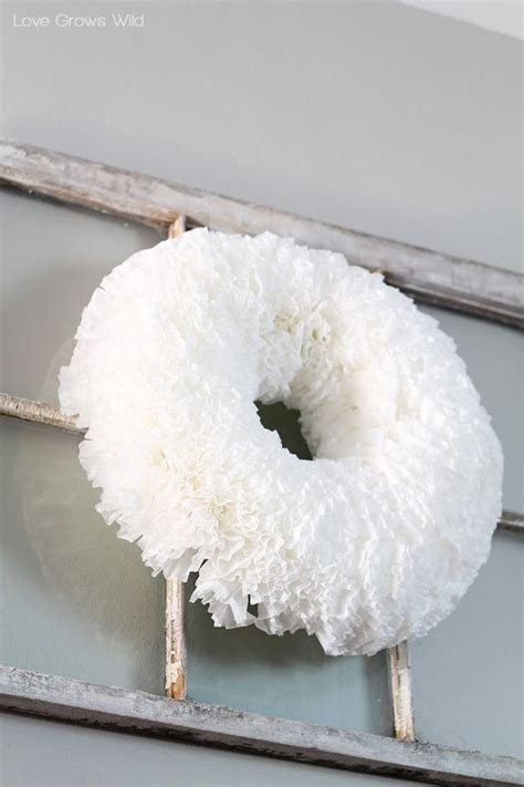 Use dollar store coffee filters to create a full and fluffy pastel spring coffee filter wreath. Coffee Filter Wreath | Coffee filter wreath, Diy wreath, Christmas wreaths to make