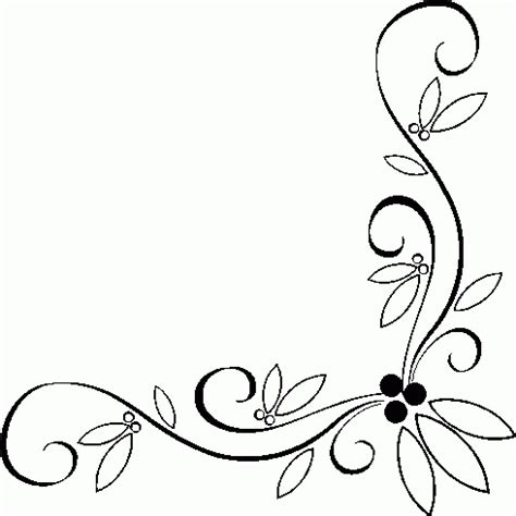 corner border designs  cards clipart library