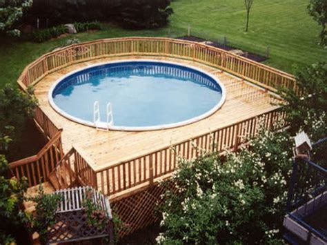 Pictures Of Decks Around Above Ground Pool by Above Ground Swimming Pools With Decks Newsonair Org