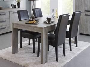 Table A Manger : meuble table manger contemporaine couleur ch ne gris ~ Teatrodelosmanantiales.com Idées de Décoration