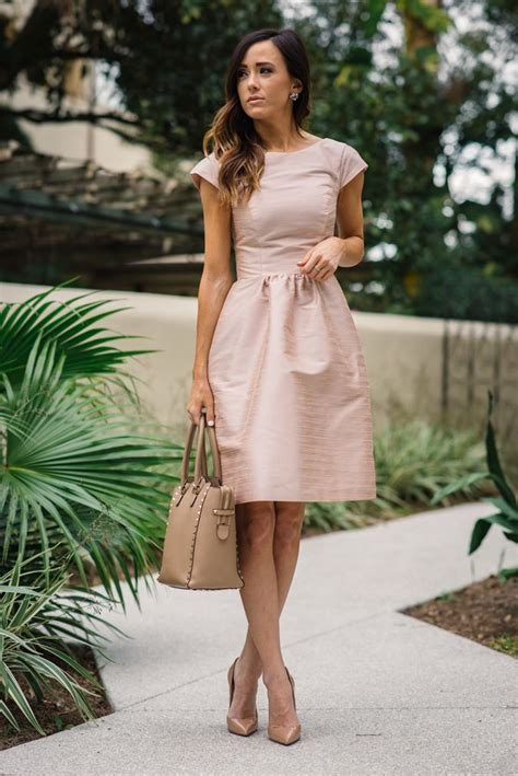 pink fit and flare dress best 25 wedding guest attire ideas on what to