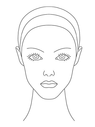face drawing templates drawings art gallery