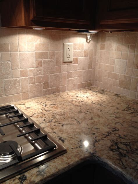 Kitchen Countertops With Backsplash by Cambria Quartz Bradshaw With Tumbled Backsplash