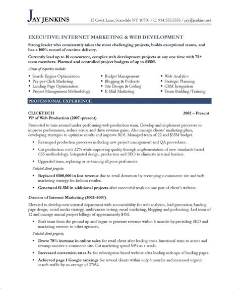marketing resume free excel templates