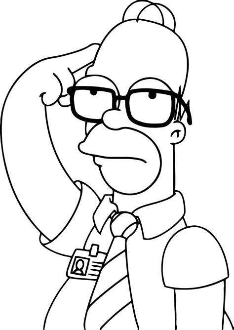 Dibujos de Homero Simpson para colorear en familia