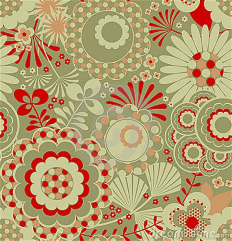Seamless Retro Wallpaper Pattern Royalty Free Stock ...