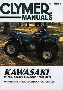 Kawasaki Bayou Klf220  Klf250 Atv Repair Manual 1988