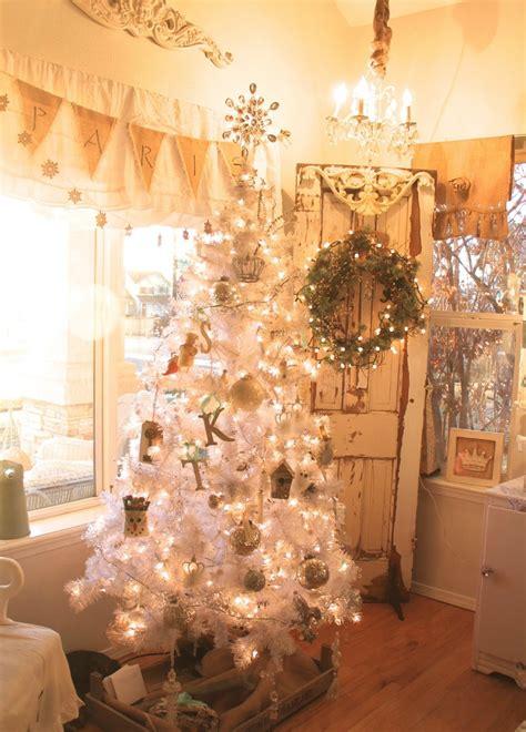 shabby christmas awesome white shabby chic christmas tree