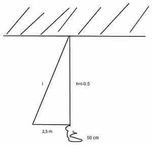 Seillänge Berechnen : cosinus pythagoras seill nge in einer turnhalle ausrechnen mathelounge ~ Themetempest.com Abrechnung