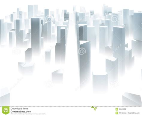 abstract city sketch stock illustration image