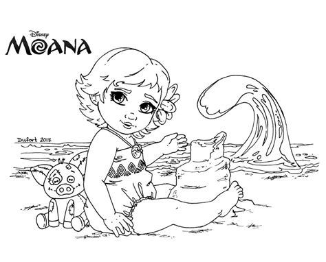 moana template baby moana coloring pages
