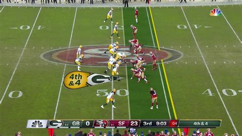 packers qb rodgers converts fourth   rb williams