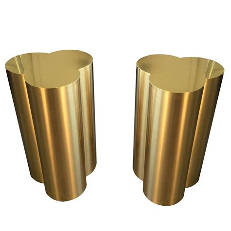 brass dining table base custom trefoil dining table pedestal bases in polished