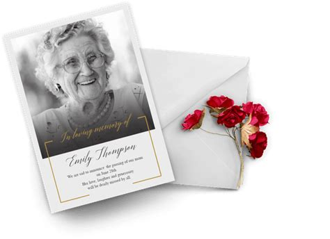Memorial & Funeral Card Templates (Free) Greetings Island