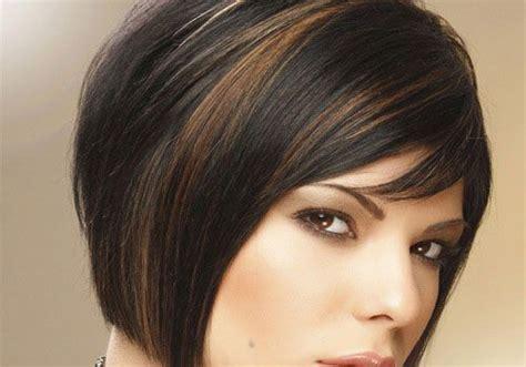 Short Length Hair Highlights With Caramel Color