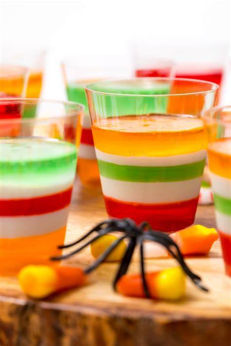 I usually put trays of these out on the table prior to my thanksgiving potluck with friends. Halloween vodka Jell-O Shots - Thanksgiving.com