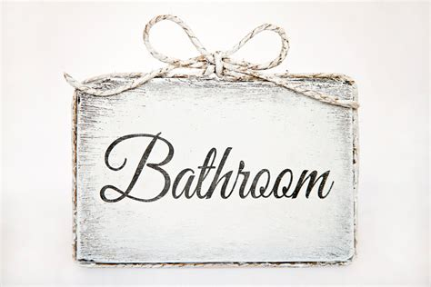 Cute Handmade Wooden Bathroom Door Sign Bathroom Home