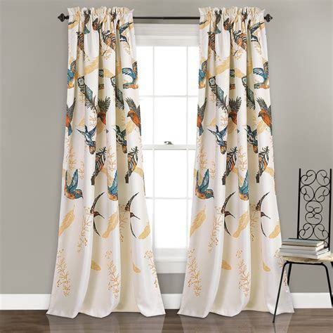 Bird Breeze Room Darkening Window Curtain Set   Lush Decor