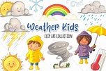 Cute Weather Kids Clip Art Collection (Graphic) by ...