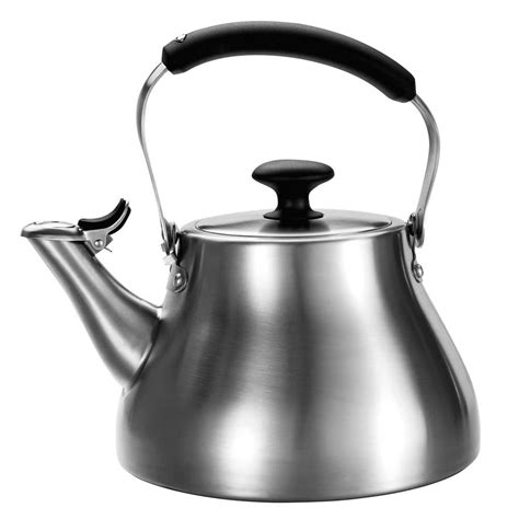 oxo brushed stainless steel classic tea kettle  quart cutlery