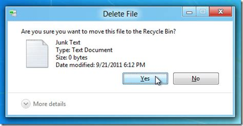 How To Enable 'delete Confirmation Dialog' In Windows 8
