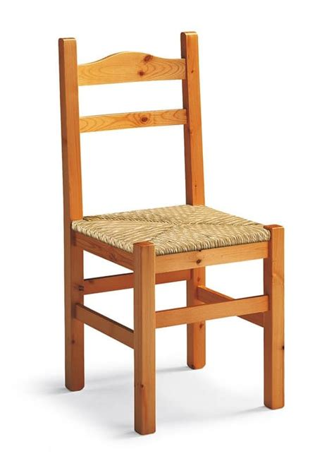 Rustic Chair In Wood, Woven Straw Seat Idfdesign