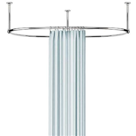 oval shower curtain rod o30x72 clawfoot tubs and