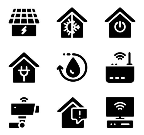 21 Home Automation Icon Packs  Vector Icon Packs Svg